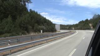 A controlled-access highway and wind power at Serra de Bigorne