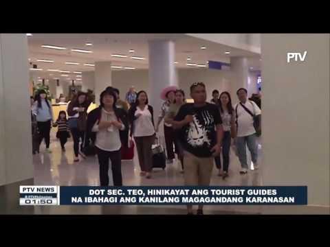 DOT Sec. Teo, hinikayat ang tourist guides na ibahagi ang kanilang magagandang karanasan