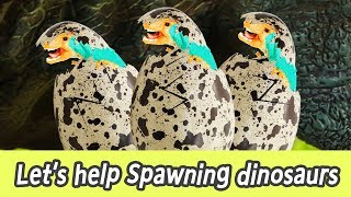 [EN] Let's help spawning dinosaurs!! dinosaurs eggs, learn dinosaurs names, collectaㅣCoCosToy