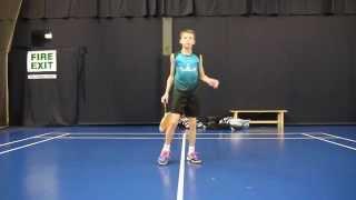 badminton trick shot tutorial around the back