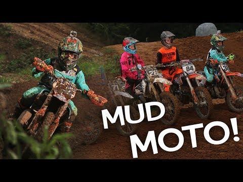 Mud Moto On Rough East Coast Track! Haiden Deegan On Rails!