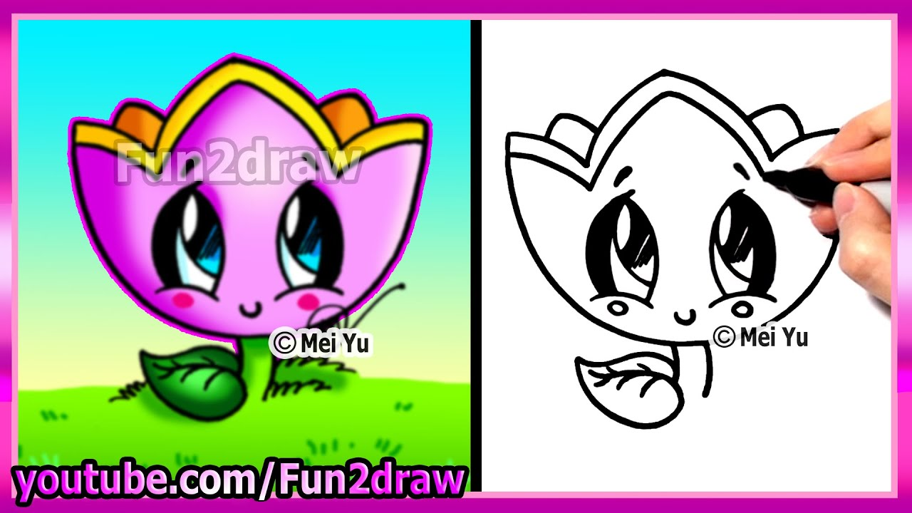 How To Draw For Kids  How To Draw A Flower  Fun2draw