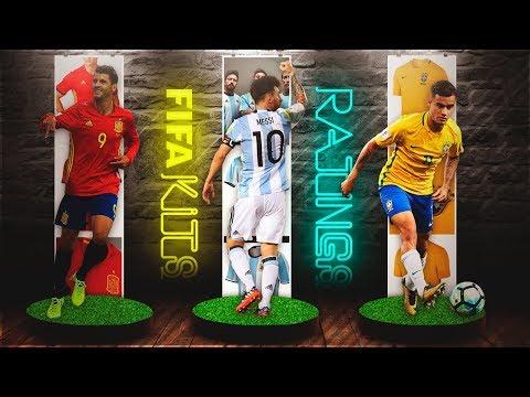 FIFA 18 Nationals Team Kits & Ratings