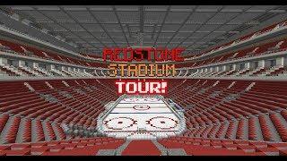 Minecraft Hockey Rink Tour: RedStone Stadium! {PART 1}