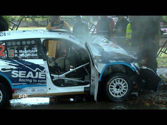 Rally Liepāja 2017 - Magalhães Crash on SS6