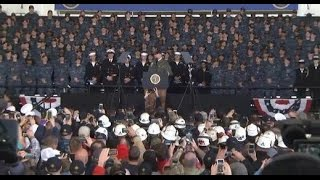 breaking news vp mike pence boards super carrier uss ronald reagan cvn 76