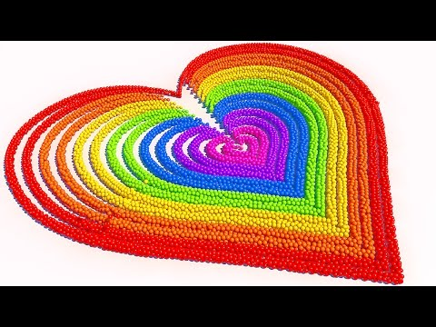 Thumbnail: A lot of 3D Candy Balls Heart Learn Colors