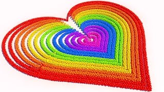 A lot of 3D Candy Balls Heart Learn Colors