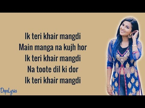 Sandcastles (Original) | Teri Khair Mangdi (Vidya Vox Mashup Cover) (ft. Devender Pal Singh)(Lyrics)