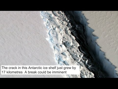 The crack in this Antarctic ice shelf just grew by 17 kilometres  A break could be imminent