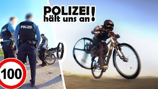 FLUGZEUG - PROPELLER am FAHRRAD! | Schaffen wir 100km/h?