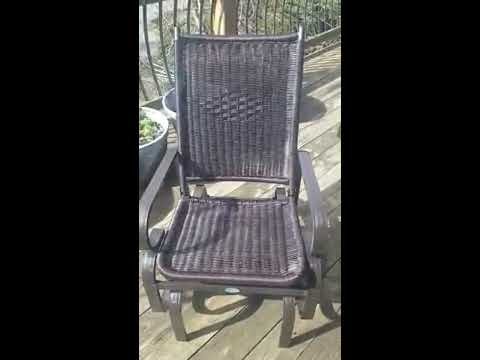 SunLife Outdoor Garden PE Wicker Rattan Rocking Chair, Excellent Quality Rocking Glider Chair