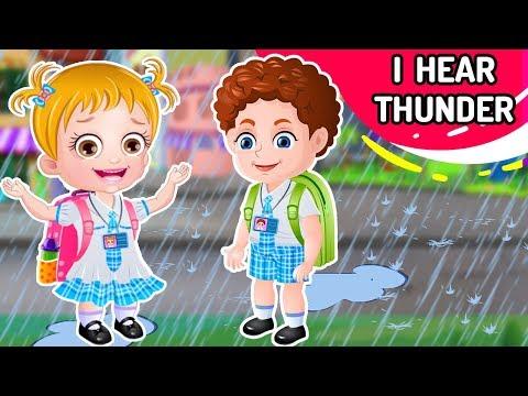 I Hear Thunder Nursery Rhyme with Lyrics   More Kids Songs & Nursery Rhymes Collection By Baby Hazel