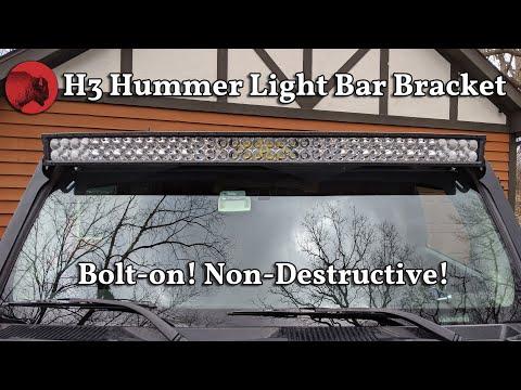 H3 Hummer Light Bar Bracket Schwarttzy