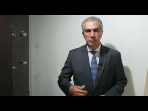O Governador Reinaldo Azambuja dá detalhes da reunião que teve hoje em Brasília