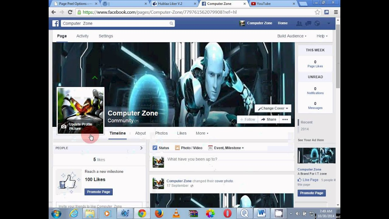 one click make 100000 like your Facebook fan page - YouTube