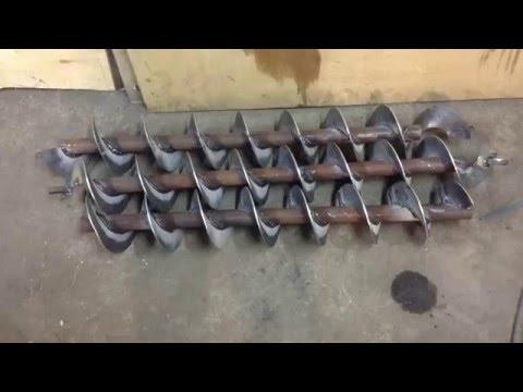 видео: Как изготовить шнеки в условиях гаража