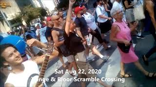 Toronto Freedom Protest | Aug 22 - Sept 26, 2020 | Yonge & Bloor Scramble | Sept 26 Grand March
