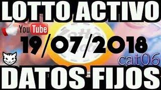 LOTTO ACTIVO DATOS FIJOS PARA GANAR  19/07/2018 cat06