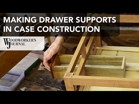 Making Drawer Supports in Furniture Case Construction