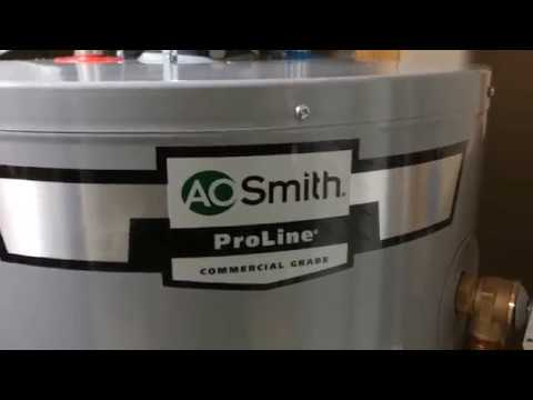 New AO Smith GCG-50 Water Heater Installed