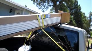 How To Make A Homemade Lumber Rack - Haul Long Boards On A Short Truck