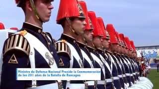 Ministro de la Defensa Nacional preside la conmemoración de los 201 años de la Batalla de Rancagua