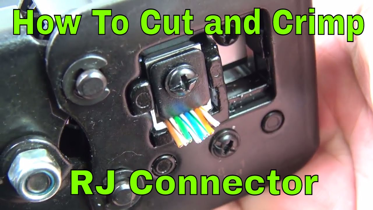 How To Easy Connect Rj45 Connectors And Crimp Tool Review Youtube Connector Wiring Diagram Cat5ecablecrimping Rj45tool