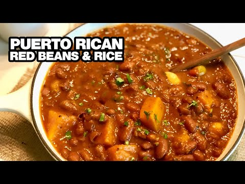 How To Make Spanish Red Beans Rice Youtube
