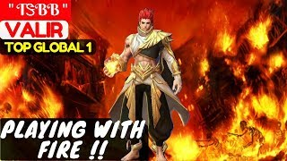 """Video Playing With Fire [Top GLobal 1 Valir]   """" TᏕBB """" Valir Gameplay and Build #1 Mobile Legend download MP3, 3GP, MP4, WEBM, AVI, FLV September 2018"""