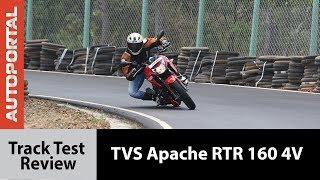 TVS Apache RTR 160 4V - Track Test Review - Autoportal