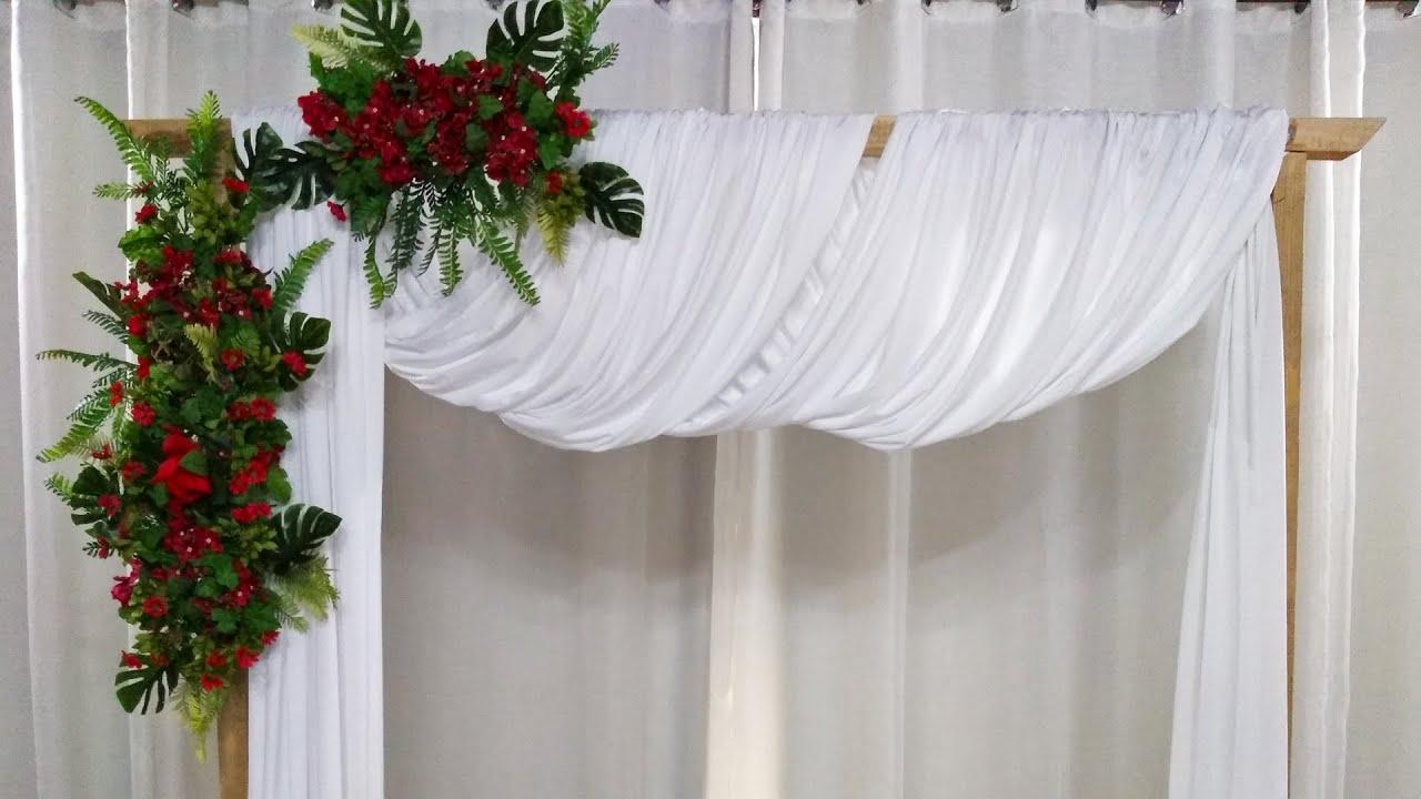 Como Fazer Gazebo de Madeira Para Casamento Montar Painel de Gazebo Para Decoração de Festas