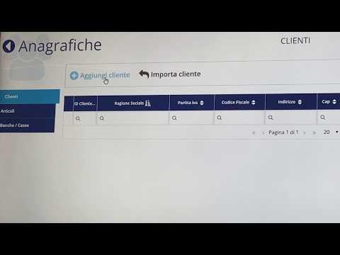 Fatturazione Elettronica Inserimento Anagrafica Cliente