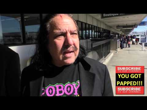Ron Jeremy talks about if size matters departing at LAX Airport in Los Angeles