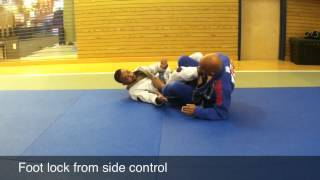 Foot Lock From Side Control and Leg Drag