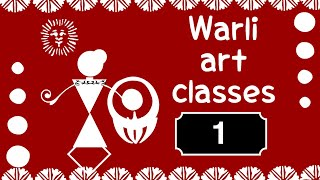 WARLI ART for beginners step by step tutorial