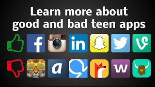 Good and Bad Apps for Teens Parent App Guide April 2016