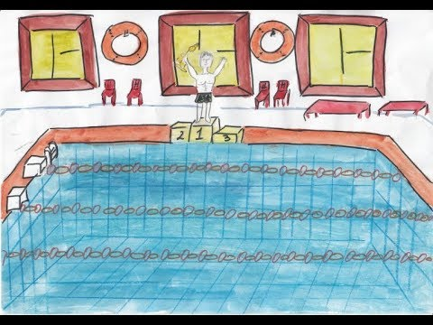 Картинки для срисовки бассейн