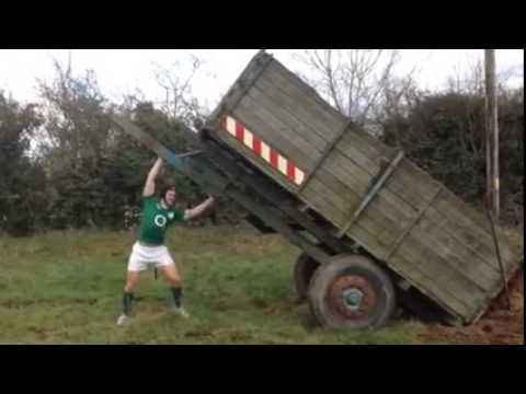 Ireland's Sean O' Brien working away on the farm...