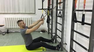 Упражнения для спины дома. Тяга вертикального блока: тренировка спины с резиновым жгутом!