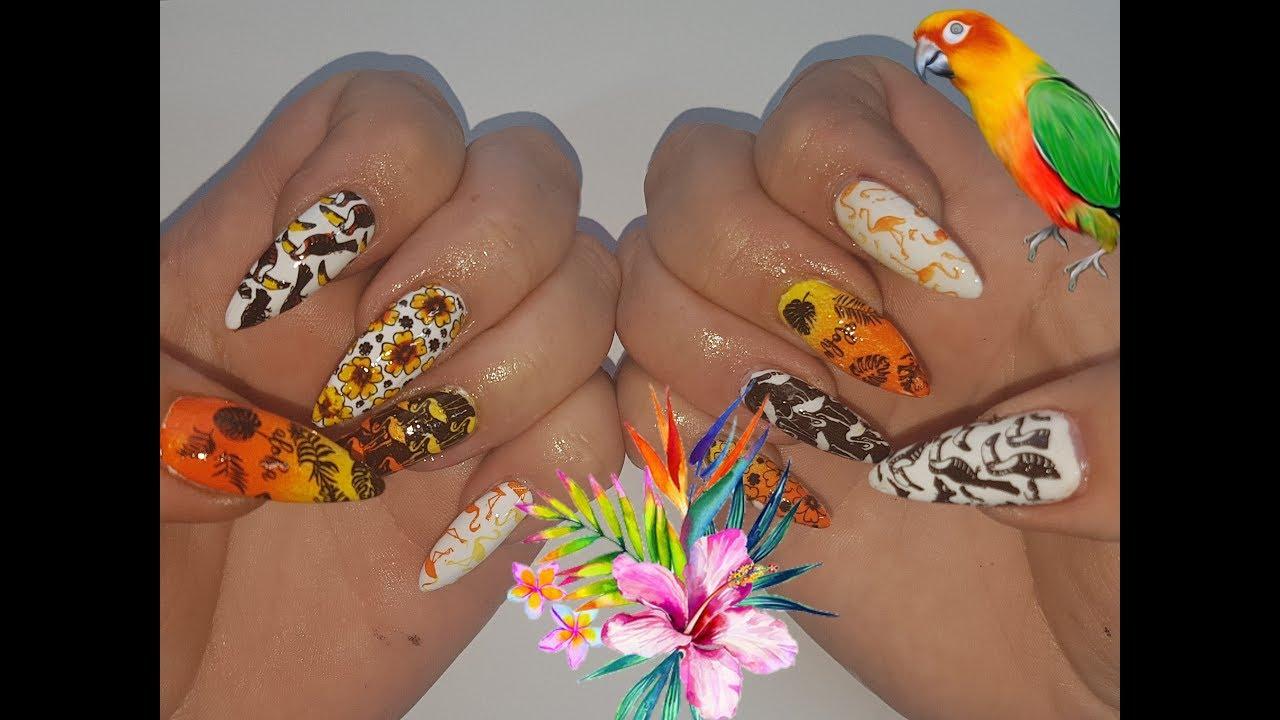 Exotic nail art challenge - YouTube