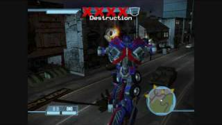 Transformers: The Game - Optimus Prime Gameplay