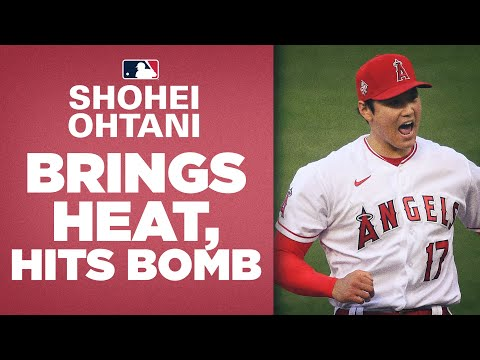 He DOES IT ALL! Shohei Ohtani launches homer, hits 100 mph while striking out 7!