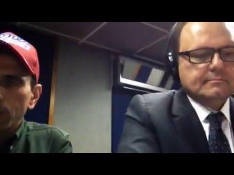 Henrique Capriles Con Eduardo Rodríguez, en Unión Radio