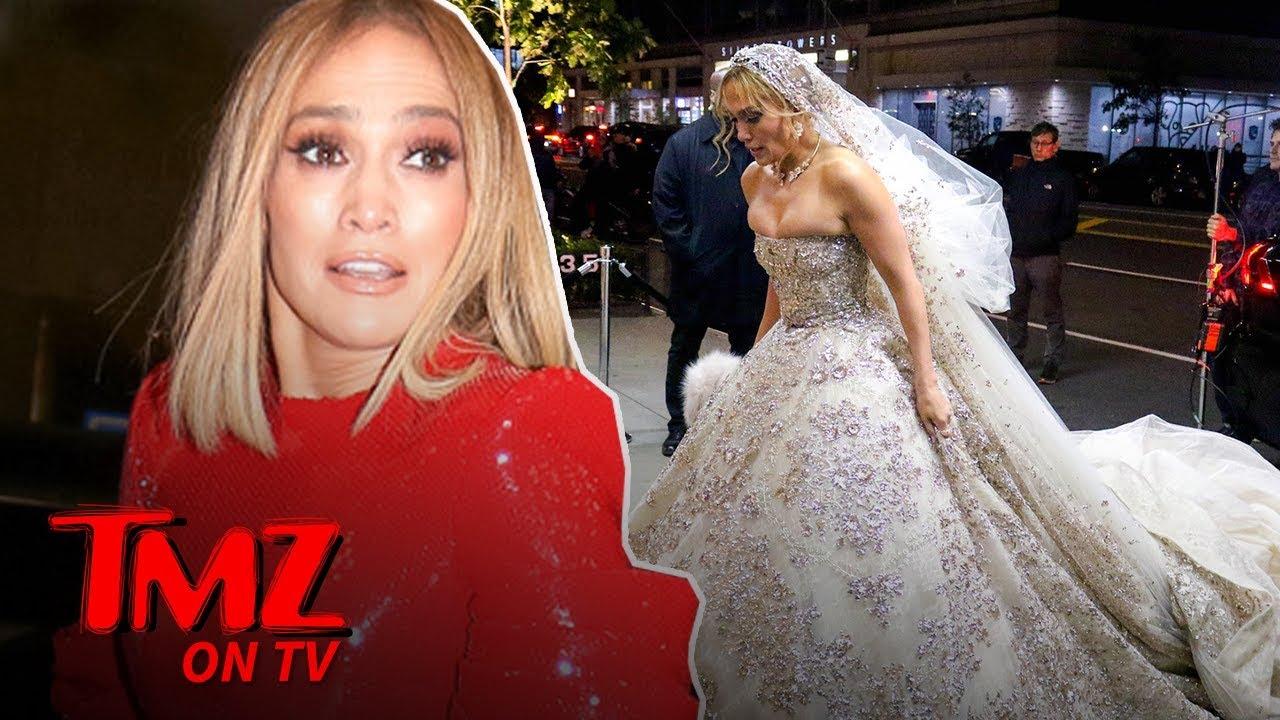 Jennifer Lopez Shows Off Her Wedding Dress ... for a Movie | TMZ TV