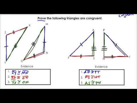 3.3 SSS and SAS Congruence