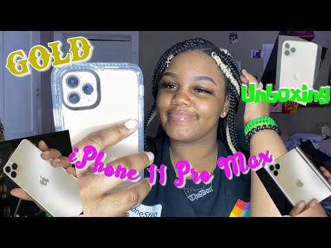 IPhone 11 Pro Max Gold Unboxing 🤍📲 | Mookie Tha Don