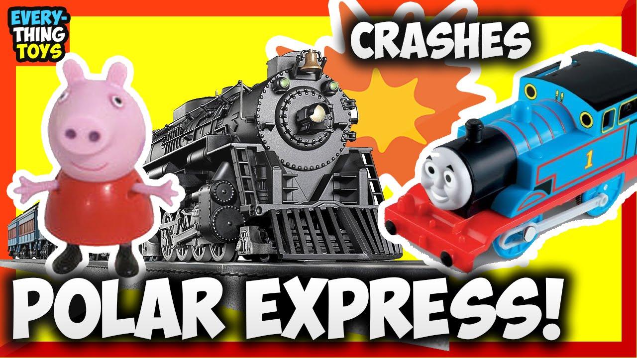 Polar Express Lionel G Gauge Scale Battery Train Crashes