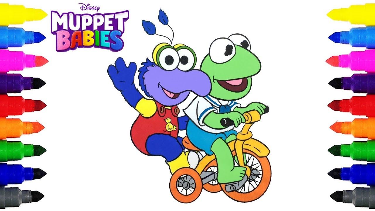 muppet babies kermit and gonzo disney junior coloring pages