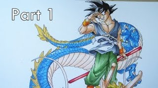 Drawing Dragon Ball Z Part 1 (collab with Mastering Anime)